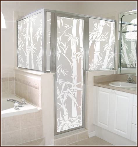 Privacy Glass Doors Privacy Plus Equals Wallpapered Windows For The