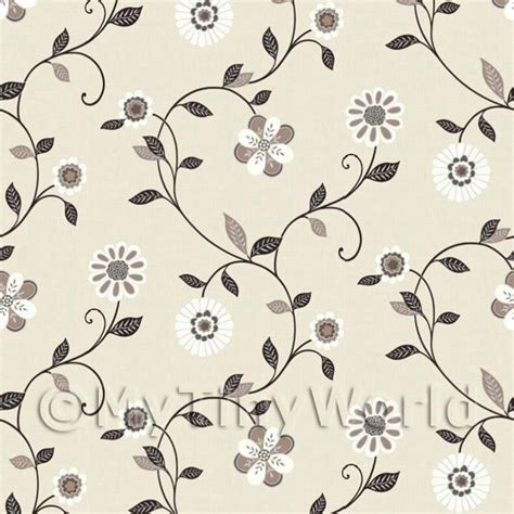 wallpaper dolls house dolls house miniature wallpaper dolls house miniature mixed black and white flowers
