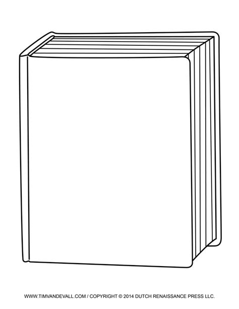 printable blank book template 6 best images of free printable blank books blank book