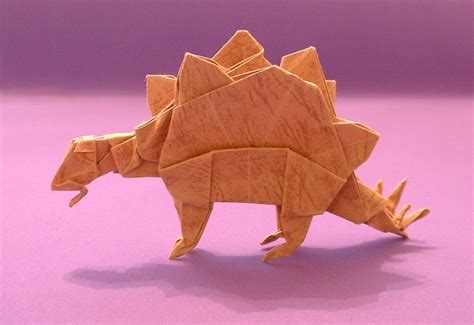 Origami Stegosaurus - origami for the connoisseur by kunihiko kasahara and
