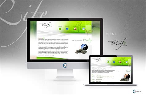 web design centered layout holistic life center threecell web design threecell