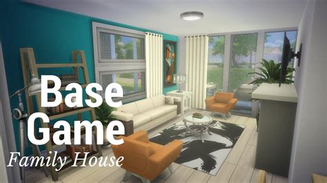 family house games the sims 4 speed build base game family house part 2 youtube