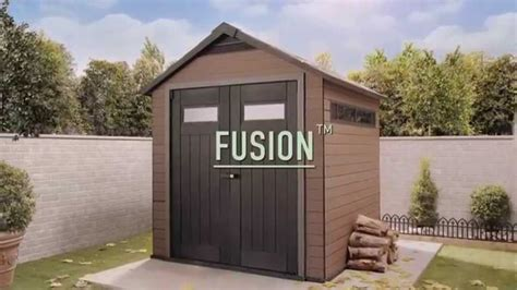Composite Storage Sheds by Wood Plastic Composite Shed Keter Fusion Sheds