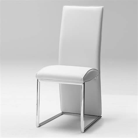 stuhl ohne rückenlehne stuhl novara ohne armlehnen in chrom kunstleder wei 223