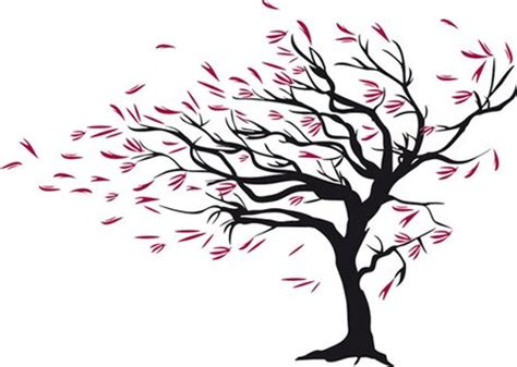 second life marketplace wall art tree with red leaves