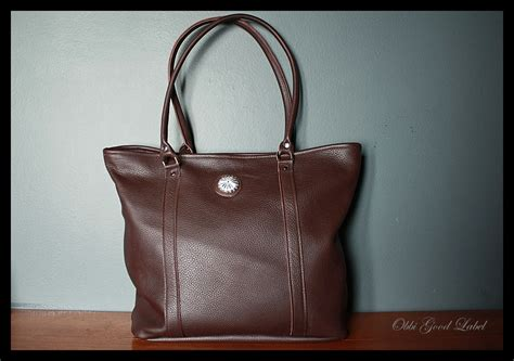 custom work top grain leather tote bag obbi label