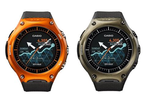 Casio Smartwatch Android Casio Announce Wsd F10 Outdoorsy Android Wear Smartwatch
