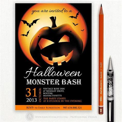 printable custom halloween invitations printable custom halloween party invitation or flyer