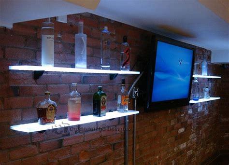 How To Make A Bar Shelf by Back Bar Shelves W Led Lighting Great For Home Bars