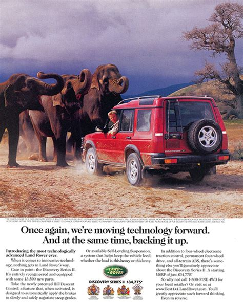 vintage land rover ad 1999 land rover discovery ad classic cars today online