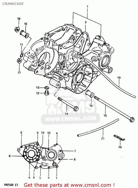 Suzuki Rm250 1983 D Crankcase Schematic Partsfiche
