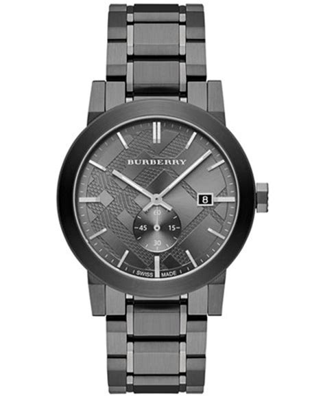 burberry s swiss light gray ion plated stainless steel