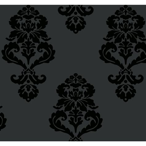 black damask wallpaper home decor york wallcoverings graphic damask wallpaper bl0397 the