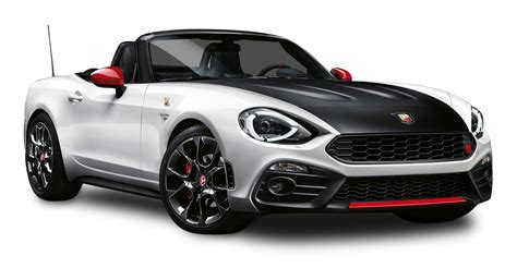 fiat spider white black and white fiat 124 spider abarth car png image pngpix
