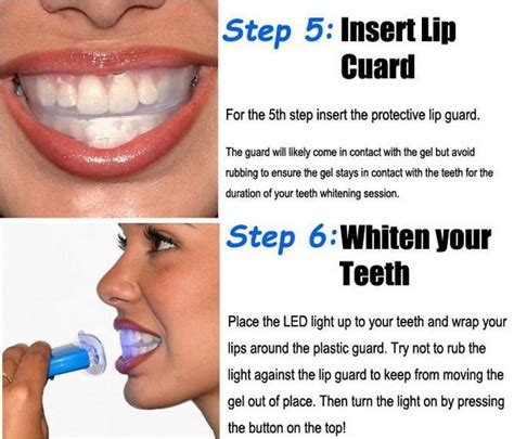 how to use white light smile professional non peroxide teeth whitening kit with led