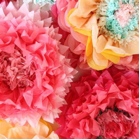 Paper Tissue Flowers - how to make tissue paper flowers