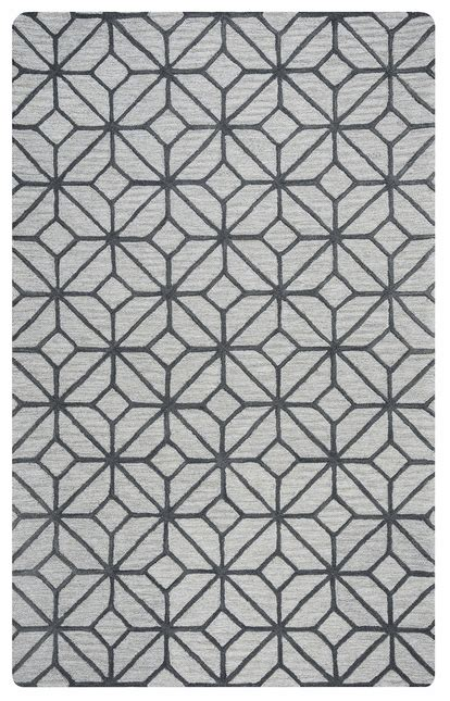 10 x 14 grey wool rug luniccia geometric pattern wool area rug in grey