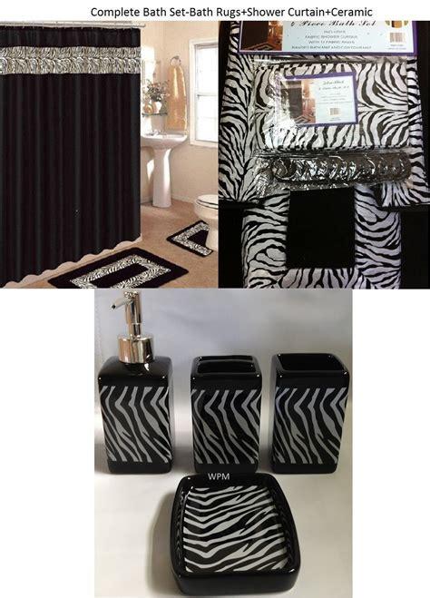 zebra print bathroom accessories sets everyone