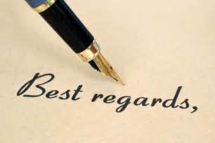 Warm Regard With Best Regards Closing Your Letter