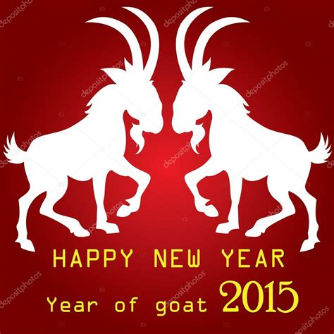 new year animals goat happy new year emblem in 2015 on the eastern calendar