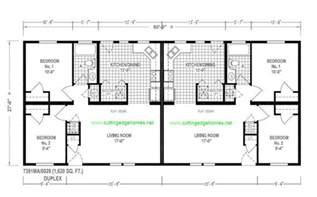 Manufactured Duplex Floor Plans Duplex Mobile Home Floor Plans King Duplex 2br 1ba