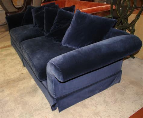 Navy Blue Velvet Sofa by A Navy Blue Velvet Sofa Lh Exchange