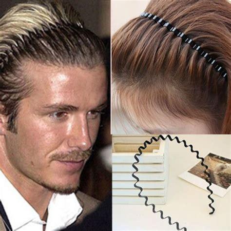 mens hairstyles with skinny headbands men women unisex wave black metal sport soccer headband