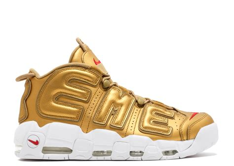 nike air supreme air more uptempo quot supreme quot nike 902290 700 metallic