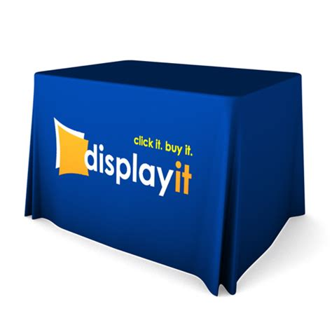 table drape with logo custom printed trade show table covers australia beeprinting