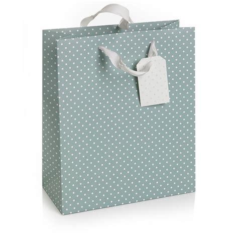 wilko blue spots gift bag medium at wilko com