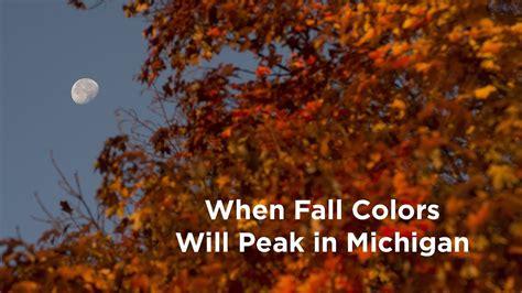 in color michigan when fall colors will peak in michigan 2017
