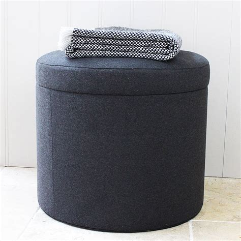 Charcoal Stool by Charcoal Felt Storage Stool By Marquis Dawe Notonthehighstreet