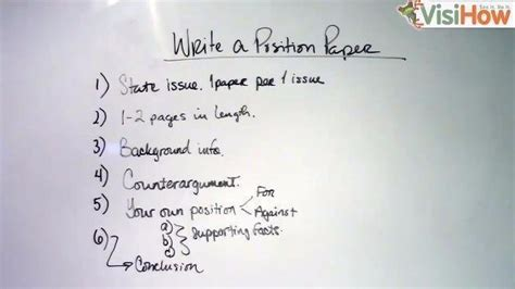 How To Make Position Paper - write a position paper visihow