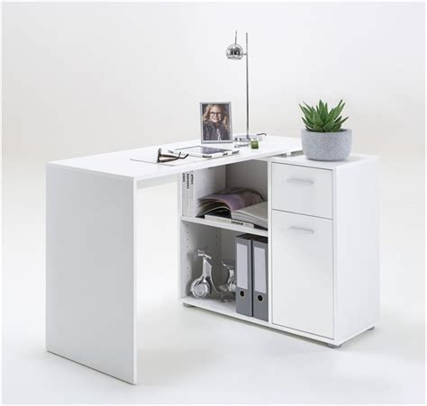 White Corner Desk With Drawers Carla Small L Shaped Corner Computer Desk White Furniture Factor Uk