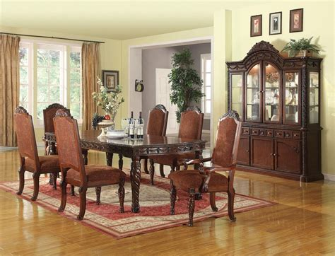 cherry dining room sets traditional dining room home formal standard traditional dining room table set 7pc