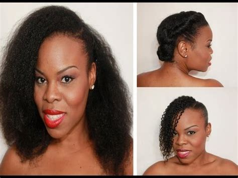 "triple threat: 3 hairstyles for ""natural hair"