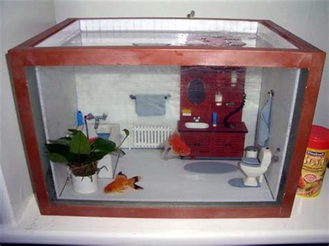 bathtub aquarium talk with your fish while you soak in the tub 5 bathroom