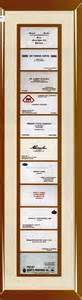 business card picture frame certificate frames china wholesale certificate frames