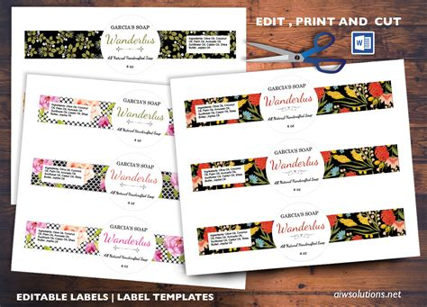 how to edit templates edit pint and cut sticker template editable label template