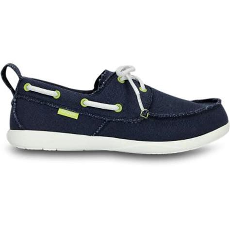 Crocs St Canvas Original navy canvas boat shoes crocs navy white walu canvas deck