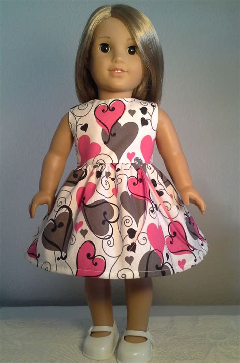 Handmade Doll Clothes - american doll clothes handmade 18 inch pink grey