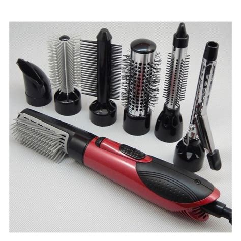 Hair Dryer With Brush Attachment Reviews 220v hair dryer hair dryer 7 in 1 attachment comb nozzle hair brush curling irons