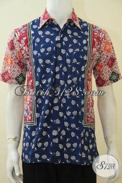 desain baju batik gaul produk pakaian batik cowok dengan desain motif modern yang