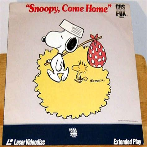 snoopy come home laserdisc laserdiscs