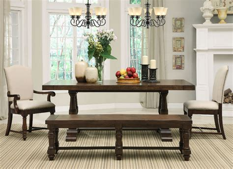 dining room tables with benches and chairs dinette sets with bench support for your dining room ideas