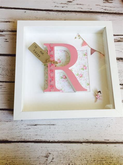 Wooden Letter Box Frame Baby S Er Gifts New Baby Gifts