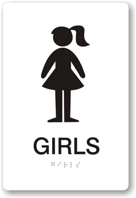 bathroom girl sign girls restroom sign clipart best