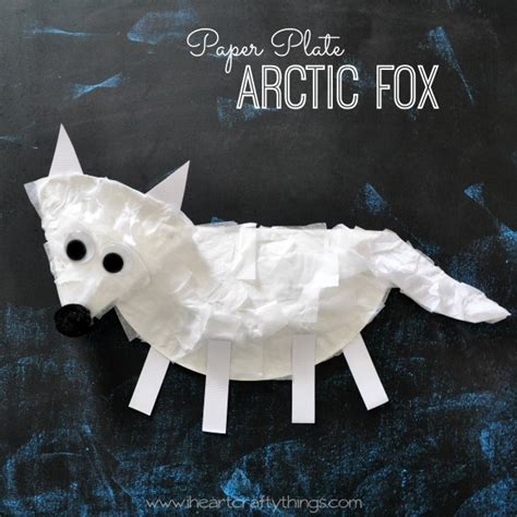 Polar Paper Plate Craft - i crafty things 20 arctic antarctic animal
