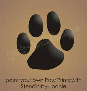 paw print stencil 1 75 quot animal track canine pet dog cat