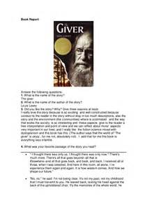 The Giver Book Report book report quot the giver quot